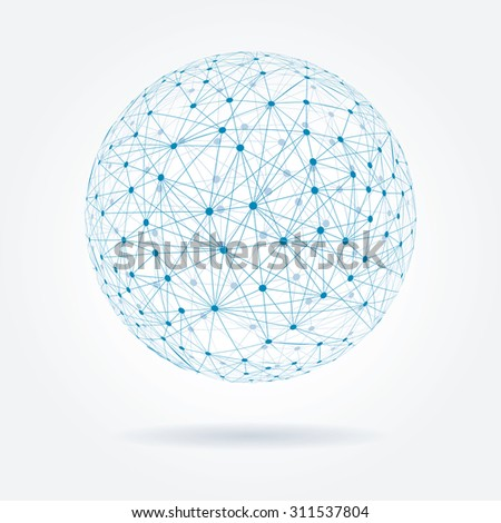 Abstract sphere vector illustration. - stock vector