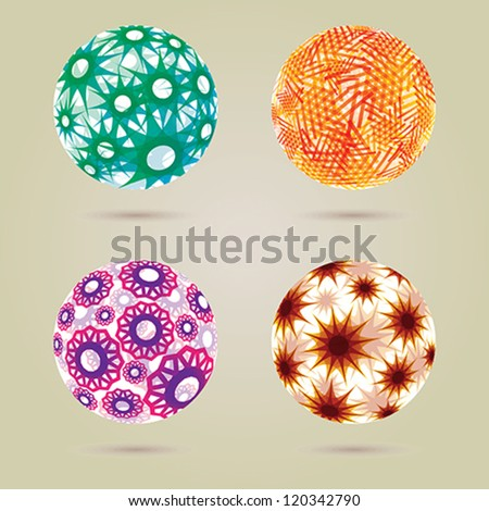 Abstract spheres. EPS 10 file with transparencies. - stock vector