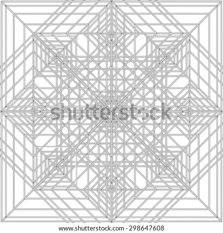 Abstract Spider Web Construction Structure Vector 333 - stock vector