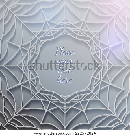 abstract spiderweb design element - stock vector