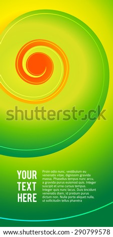 Abstract spiral background of bright glow lighting twist lines. Vector Illustration eps 10 for elegant vertical business card. Can be used for business brochure, flyer party, design banners, label - stock vector