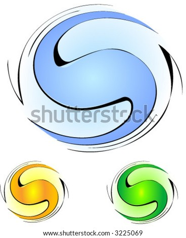 abstract spiral background (vector) - stock vector
