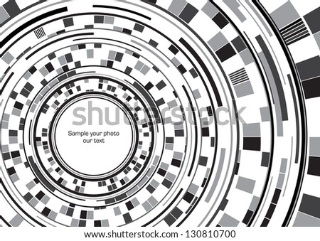 Abstract spiral frame (black) - stock vector