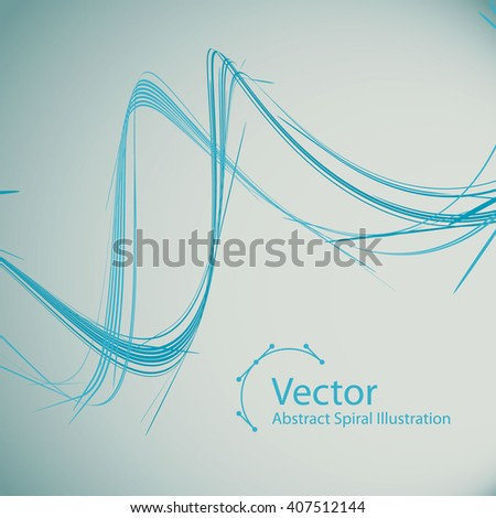 Abstract Spiral vector colourful Illustration with place for text. Background design template is well done for Graphic Design,  Party Flyers, Business Presentation, Posters.  - stock vector