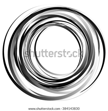 Abstract spirally element. Spinning, vortex graphic. Concentric circles. - stock vector