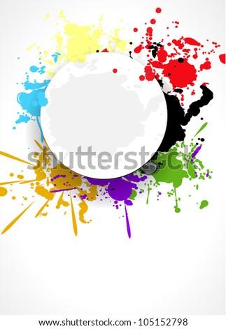 abstract splash background design vector illustration eps - stock vector