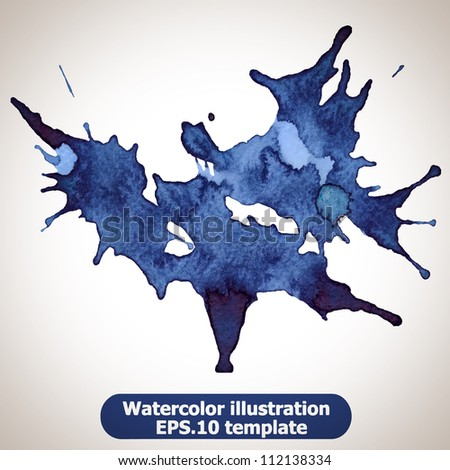 Abstract splash watercolor : illustration vector - stock vector