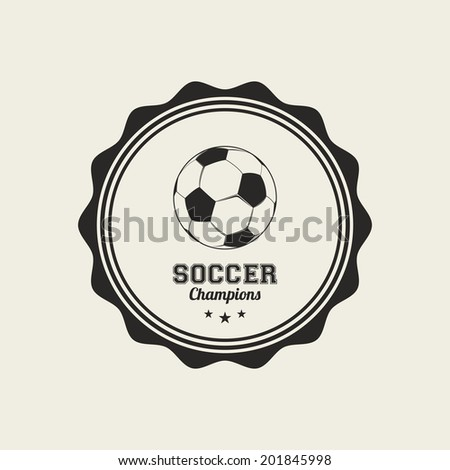 abstract sport label on a white background