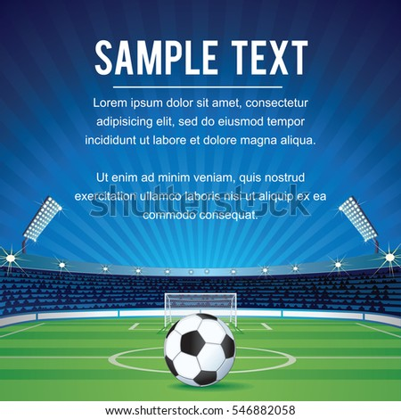 Abstract Sport Soccer Background with Space for text and Design. Champions League Team Vector Background