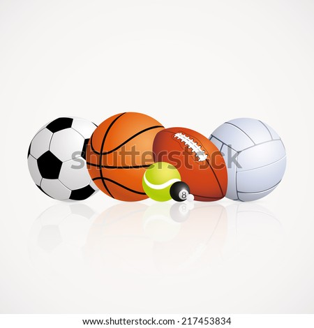 abstract sports balls on a white background - stock vector