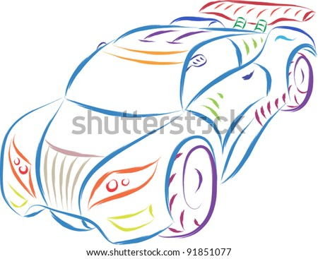 abstract sports car sketch