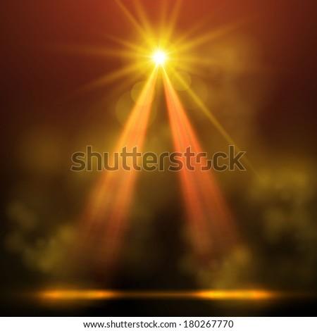 abstract spotlight background  - stock vector