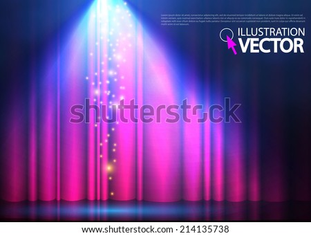 Abstract spotlight background. Vector illustration  - stock vector