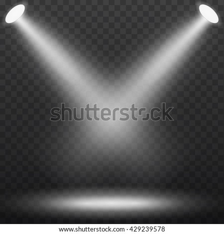 Abstract spotlight effect on dark black background. Vector eps10 illustration - stock vector