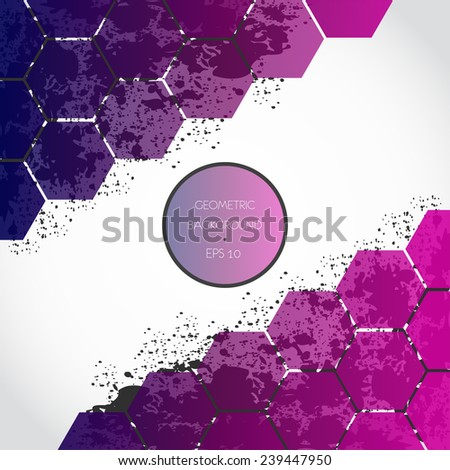 Abstract spray geometric background
