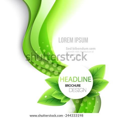 Abstract spring background. Template brochure design - stock vector