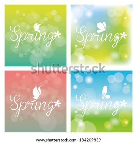 Abstract Spring Backgrounds With Some Special Objects
