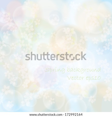Abstract spring floral background light colors - stock vector