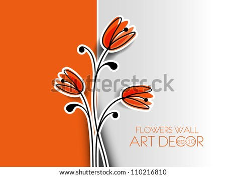 abstract spring flower background illustration. - stock vector
