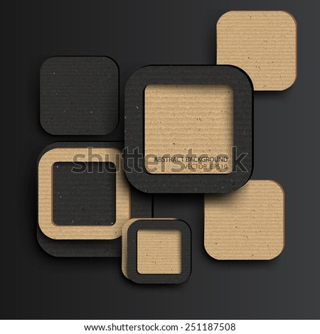 abstract Square background ,Vector illustration - stock vector
