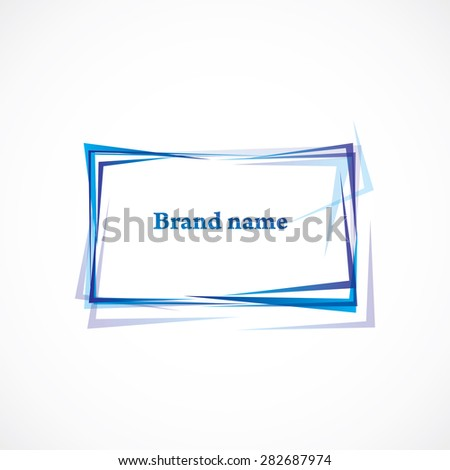 Abstract square frame  - stock vector