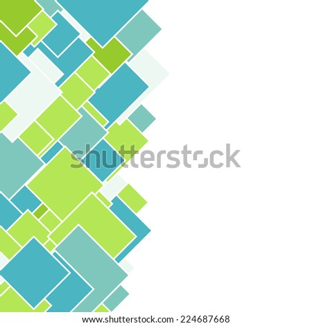 Abstract square geometric colorful mosaic background with copy space - stock vector