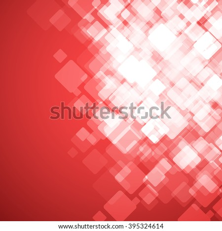 Abstract square red background. Vector Illustration. Clip-art - stock vector