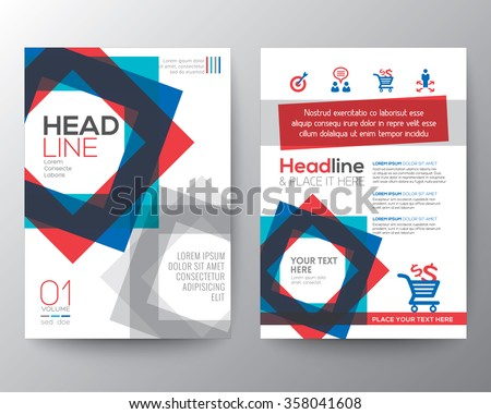 Abstract square shape background for Poster Brochure Flyer design Layout vector template in A4 size - stock vector