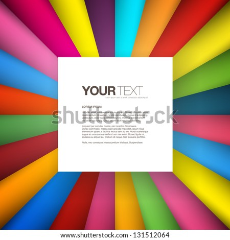 Abstract square text box design background vector - stock vector