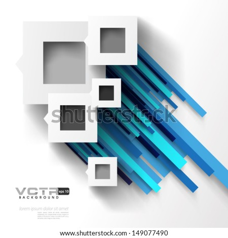 Abstract Squares and Line Pattern Background
