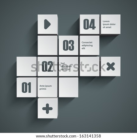 Abstract squares background. Good interface of inforgraphic template. EPS10 vector. - stock vector