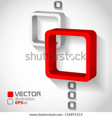 Abstract Squares Background . Vector illustration. Eps 10. - stock vector