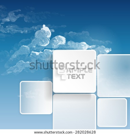 Abstract Squares Background. Vector Illustration. Eps 10. - stock vector