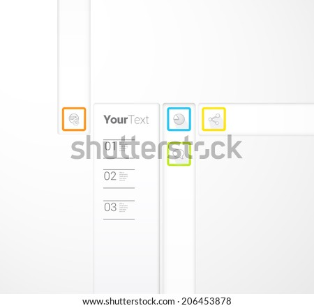 Abstract squares page design for brochure or simple web site design template, cmyk color - stock vector