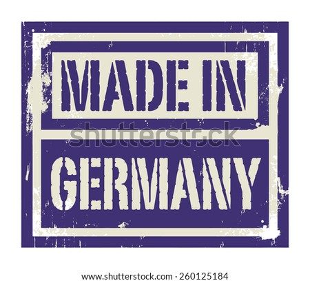 Abstract stamp or label with text Made in Germany, vector illustration - stock vector