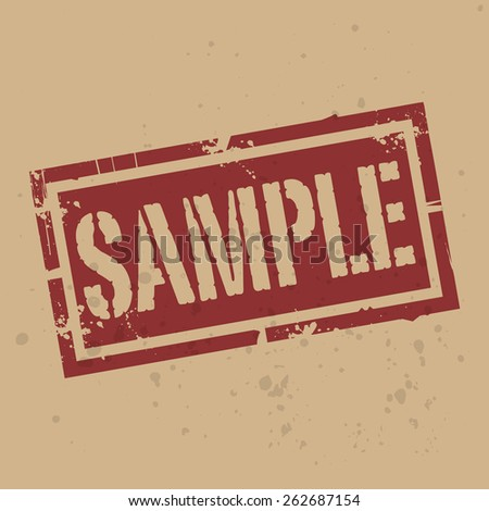 Abstract stamp or label with text Sample, vector illustration - stock vector