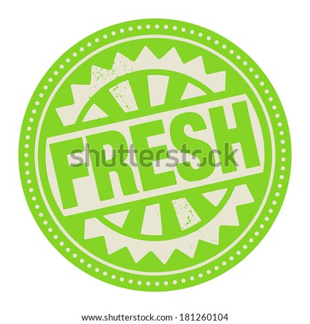 Abstract stamp or label with the text Fresh written inside, vector illustration - stock vector