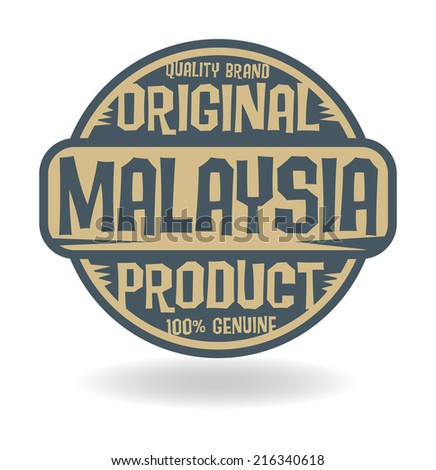 Abstract stamp with text Original Product of Malaysia, vector illustration