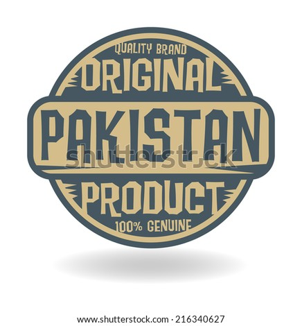 Abstract stamp with text Original Product of Pakistan, vector illustration