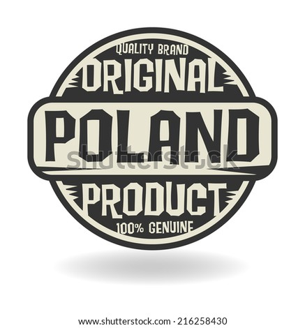 Abstract stamp with text Original Product of Poland, vector illustration