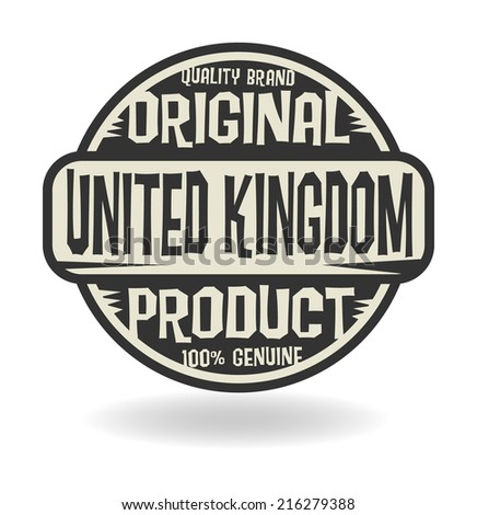Abstract stamp with text Original Product of United Kingdom, vector illustration - stock vector