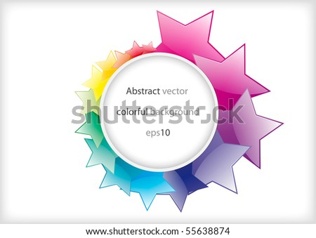Abstract star colorful shiny background design (eps10) - stock vector