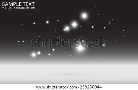 Abstract star field view from platform vector background - Starfield background glittering vector illustration - stock vector
