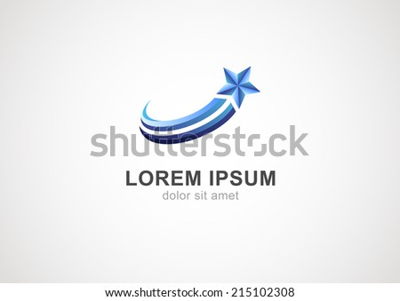 Abstract star sign branding corporate vector logo. - stock vector