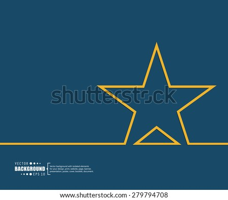 Abstract star vector background. For web and mobile applications, illustration template design, creative business info graphic, brochure, banner, presentation, concept poster, cover, booklet, document. - stock vector