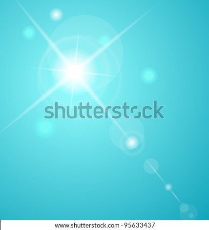 Abstract star with lenses flare - vector - stock vector
