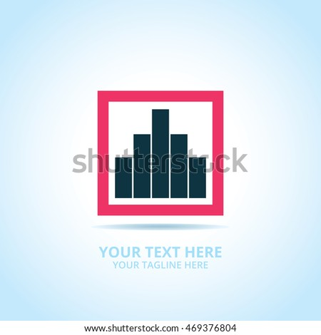 Abstract statistic chart logo, design concept, emblem, logotype element for template.