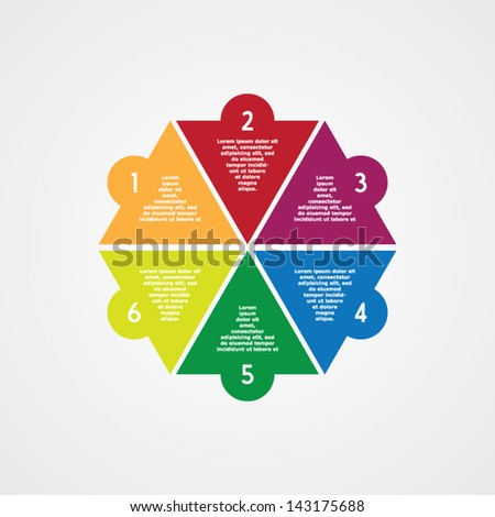 Abstract Step by Step - stock vector