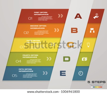 Abstract  Steps Timeline Infographic Element Stock Vector