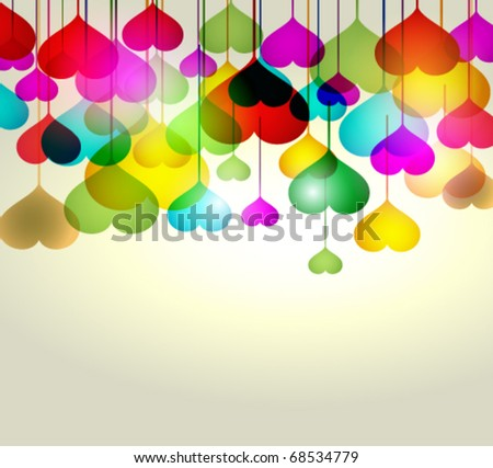 Abstract stock vector valentines day background - stock vector
